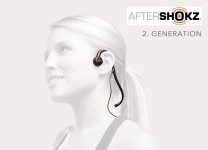 AfterShokz Sportz M2 Bone Conduction Mobile Kopfhörer mit Mikrofon 2. Generation