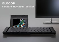 ELECOM Faltbare Bluetooth Tastatur - German Layout