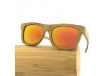 Tommy D. Bambus Holz Sonnenbrillen - Carbonized Bamboo / Orange